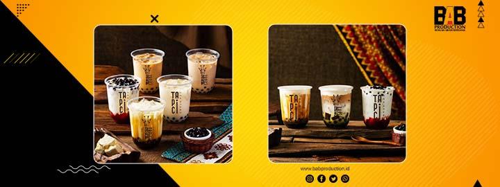 Komposisi untuk memotret produk kopi